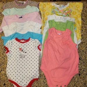 Other - BUNDLED baby girl short sleeve onesies. 18 mo